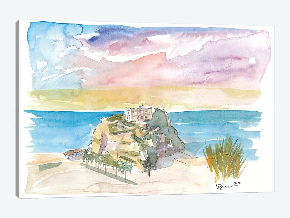 Tropea Italy Calabria Rock And Beach by Markus & Martina Bleichner 1-piece Canvas Print