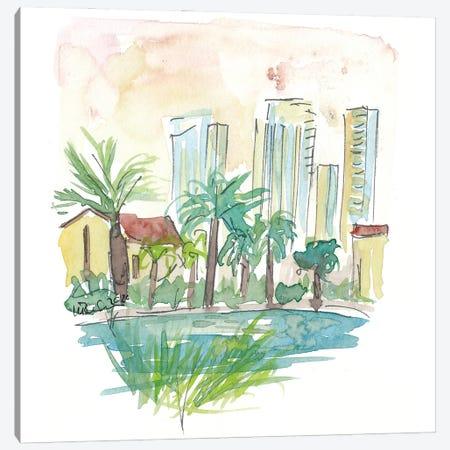 View Of Pond In Sarona Tel Aviv Canvas Print #MMB277} by Markus & Martina Bleichner Canvas Art Print