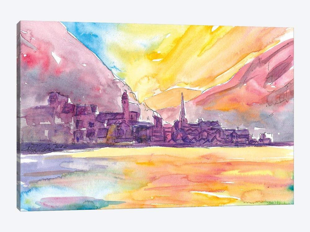 Hallstatt Dream Sunset Scene With Mountains And Lake by Markus & Martina Bleichner 1-piece Canvas Art