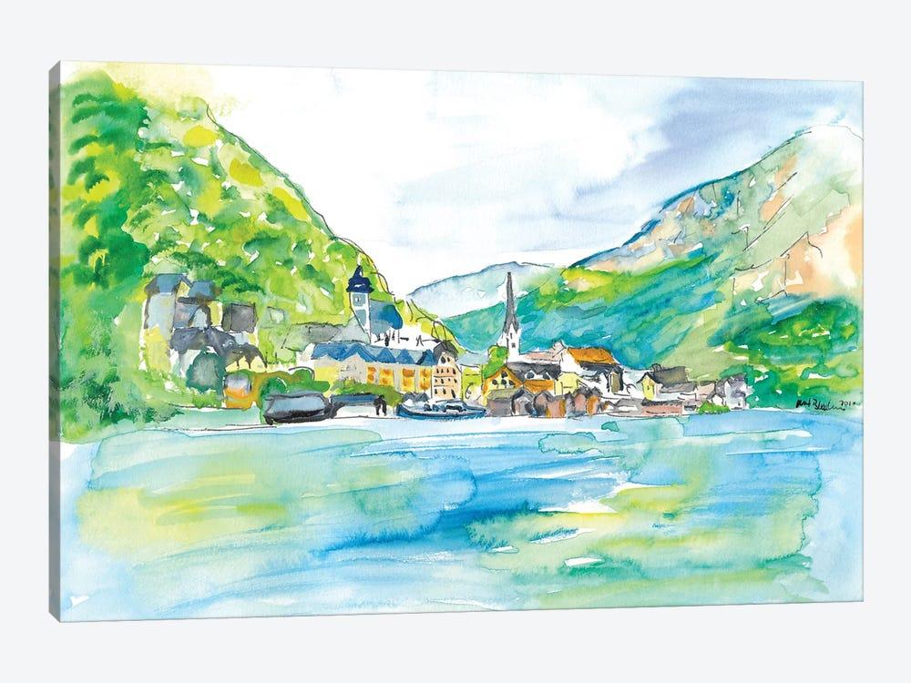 Incredible Hallstatt With Lake And Mountains In Salzkammergut Austria by Markus & Martina Bleichner 1-piece Canvas Art