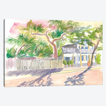 Key West Strolling Around Blue Heaven Thomas St Canvas Print #MMB284} by Markus & Martina Bleichner Canvas Art