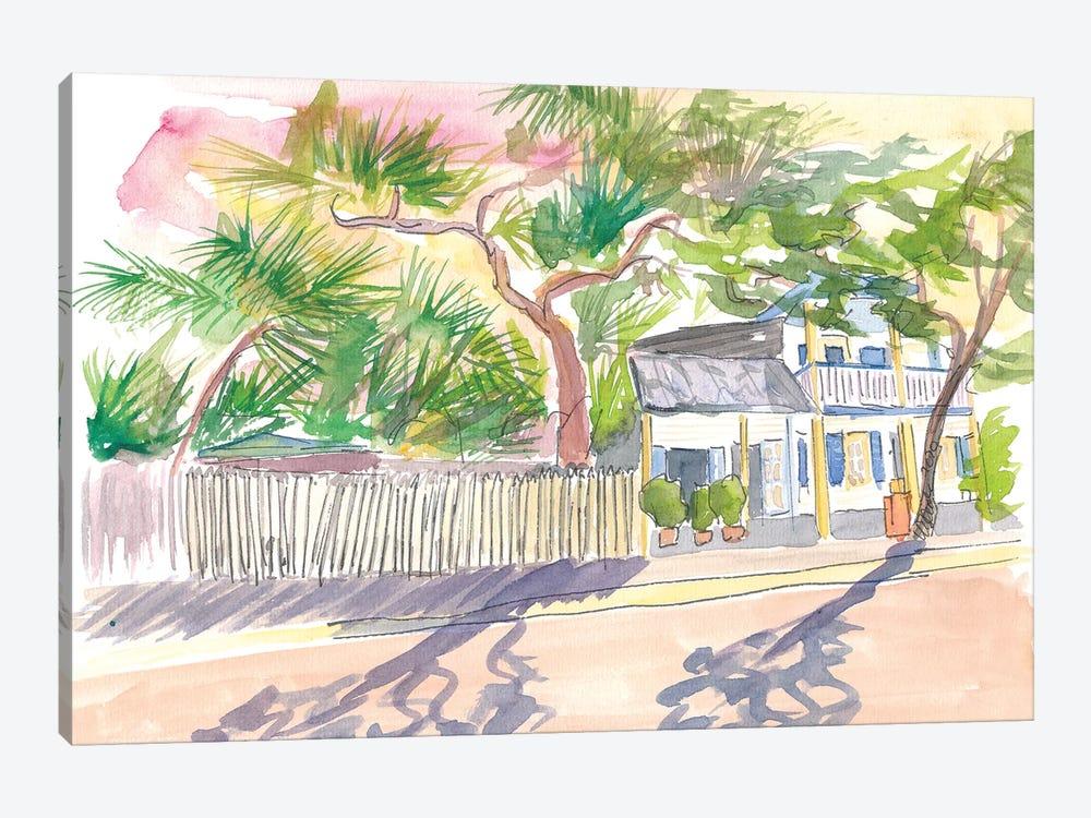 Key West Strolling Around Blue Heaven Thomas St by Markus & Martina Bleichner 1-piece Canvas Wall Art