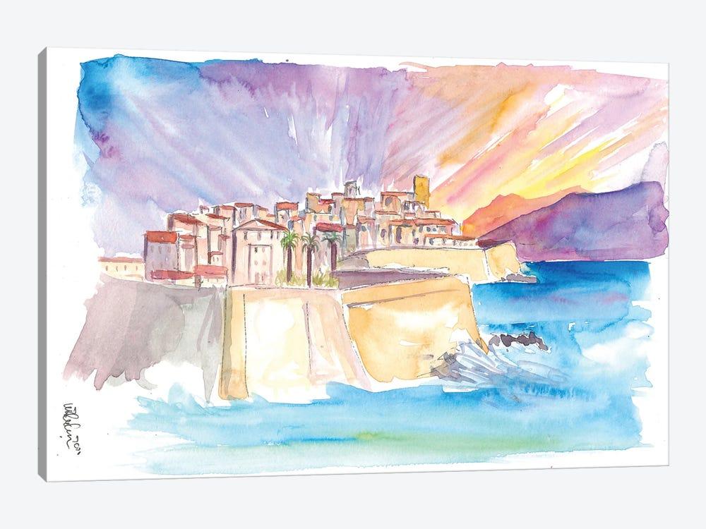 Antibes French Riviera Cityscape in Sunset by Markus & Martina Bleichner 1-piece Canvas Art Print
