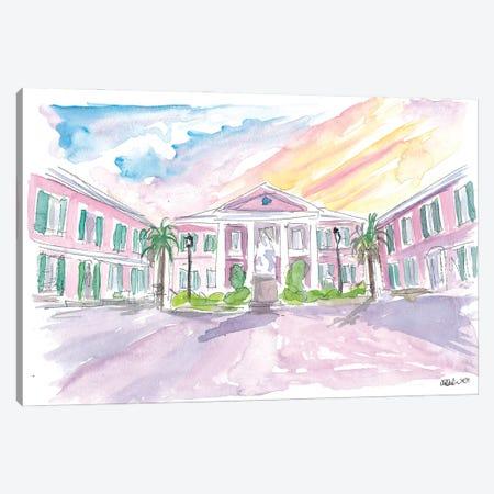 Nassau Bahamas Square at Sunset Canvas Print #MMB288} by Markus & Martina Bleichner Art Print