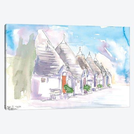 The Trulli Buildings Of Alberobello Bari Italy Canvas Print #MMB291} by Markus & Martina Bleichner Canvas Wall Art
