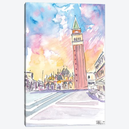 Quiet Afternoon On St Marks Square In Venice Canvas Print #MMB298} by Markus & Martina Bleichner Canvas Wall Art