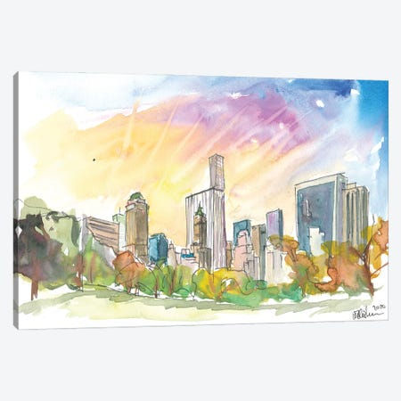 Late Afternoon In Central Park New York City Canvas Print #MMB299} by Markus & Martina Bleichner Canvas Wall Art