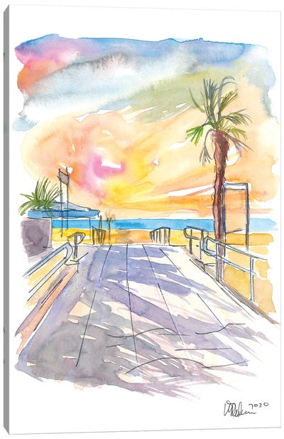 Summer Vibes At The Italian Adria Beach Canvas Art Print