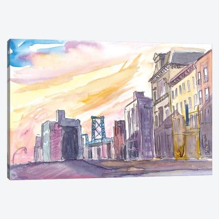 Brooklyn With Williamsburg Bridge Canvas Print #MMB304} by Markus & Martina Bleichner Art Print
