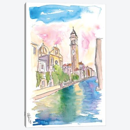 San Giorgio Dei Greci Leaning Campanile In Venice Canvas Print #MMB309} by Markus & Martina Bleichner Canvas Art