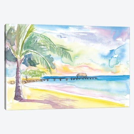 Lonely Vibes In Pigeon Point Beach Trinidad Tobago Canvas Print #MMB314} by Markus & Martina Bleichner Canvas Artwork