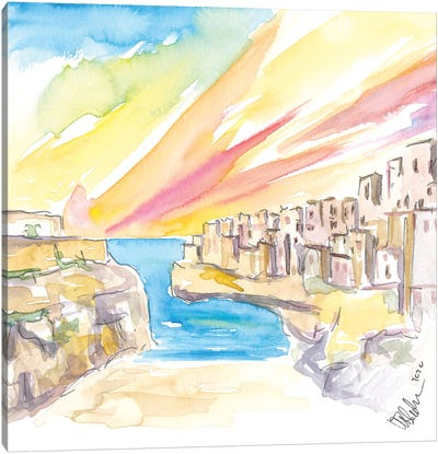 Polignano Wonderful Morning In Southern Italy Canvas Art Print