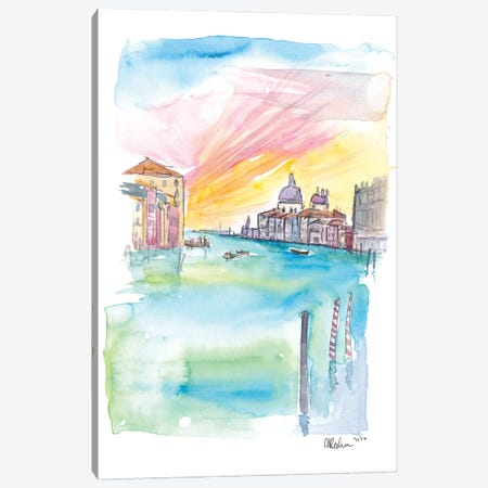 Ponte Dell Accademia View Of Santa Maria Della Salute Venice Canvas Print #MMB316} by Markus & Martina Bleichner Canvas Wall Art
