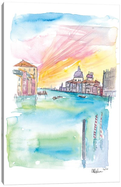 Ponte Dell Accademia View Of Santa Maria Della Salute Venice Canvas Art Print