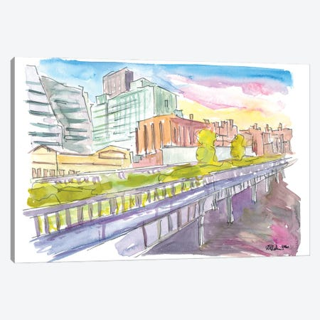 Highline Park New York City Walk Canvas Print #MMB318} by Markus & Martina Bleichner Canvas Art Print