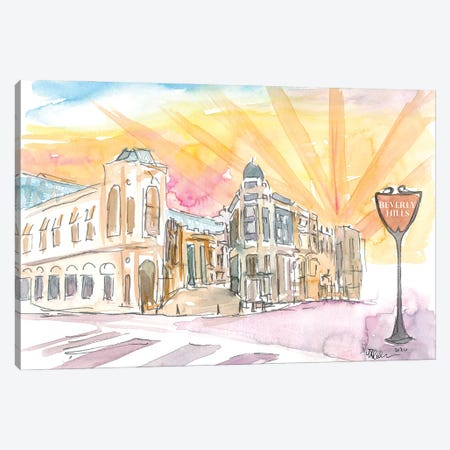 Rodeo Drive Scene Beverly Hills Los Angeles Canvas Print #MMB319} by Markus & Martina Bleichner Art Print