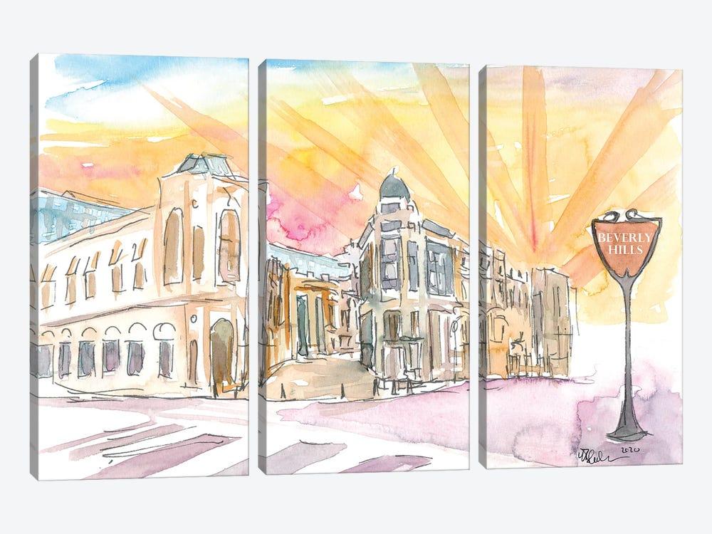 Rodeo Drive Scene Beverly Hills Los Angeles by Markus & Martina Bleichner 3-piece Art Print