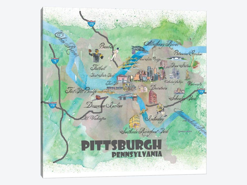 Pittsburgh, Pennsylvania Travel Poster by Markus & Martina Bleichner 1-piece Art Print