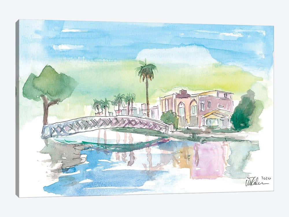 Venice Beach California Tropical Canal Scene by Markus & Martina Bleichner 1-piece Art Print