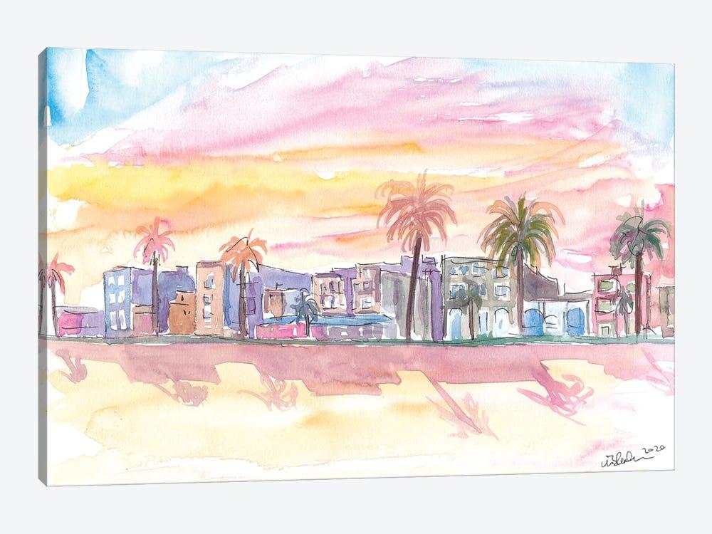 Venice Beach California Waterfront View At Sunset by Markus & Martina Bleichner 1-piece Canvas Art