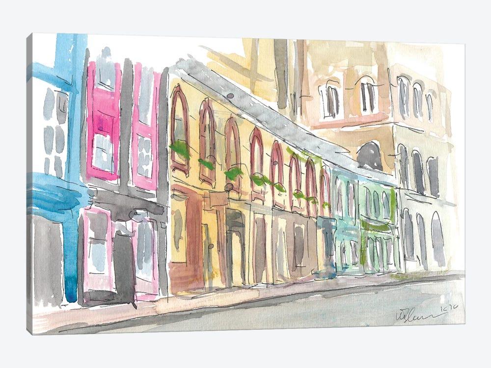 Edinburgh Scotland Street Scene With Shops by Markus & Martina Bleichner 1-piece Canvas Artwork