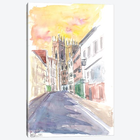 Good Old England Vibes In York Yorkshire With Cathedral Canvas Print #MMB338} by Markus & Martina Bleichner Canvas Print