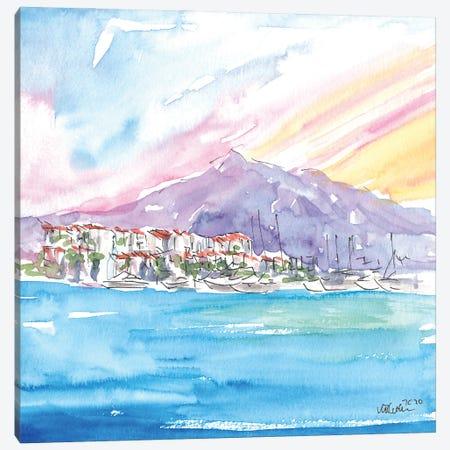 Luxury Mediterranean Harbour Of Puerto Banus Spain Canvas Print #MMB346} by Markus & Martina Bleichner Canvas Print
