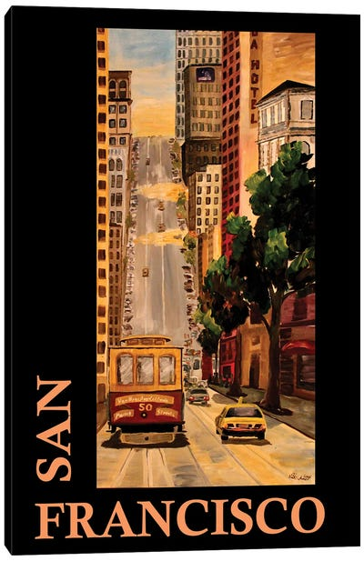 San Francisco California Classical Retro Poster Canvas Art Print