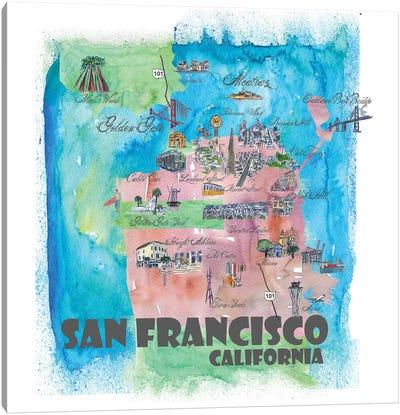 San Francisco, California Travel Poster Canvas Art Print