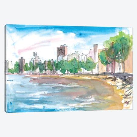 Late Summer Autumn In Central Park New York Canvas Print #MMB350} by Markus & Martina Bleichner Art Print