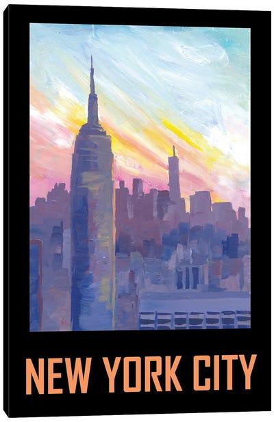 New York City USA Classical Retro Poster Canvas Art Print