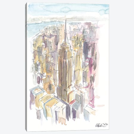 Midtown Manhattan Skyscraper Scene New York City Canvas Print #MMB354} by Markus & Martina Bleichner Canvas Wall Art