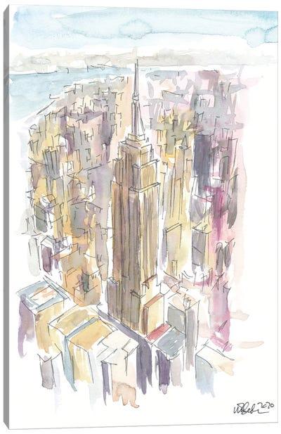 Midtown Manhattan Skyscraper Scene New York City Canvas Art Print