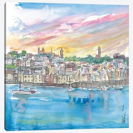 St Peter Port Guernsey Harbour Scene Canvas Print #MMB357} by Markus & Martina Bleichner Canvas Artwork