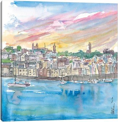 St Peter Port Guernsey Harbour Scene Canvas Art Print