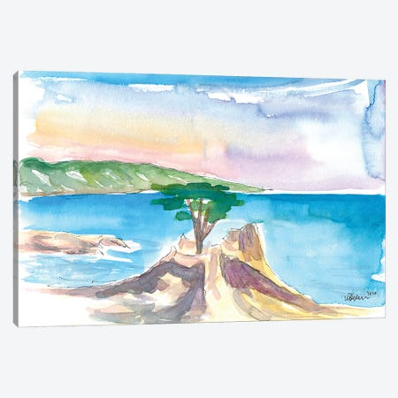 Lone Cypress Pebble Beach 17 Mile Drive Seaview Canvas Print #MMB362} by Markus & Martina Bleichner Canvas Wall Art