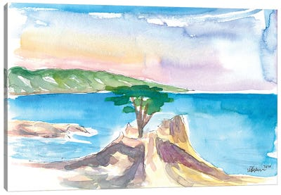Lone Cypress Pebble Beach 17 Mile Drive Seaview Canvas Art Print