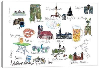 Munich Bavaria Travel Plans And Memos Souvenir Canvas Art Print