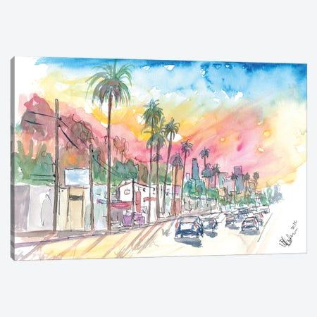 Sunset Blvd Los Angeles Rainbow Sunset Canvas Print #MMB367} by Markus & Martina Bleichner Canvas Art Print