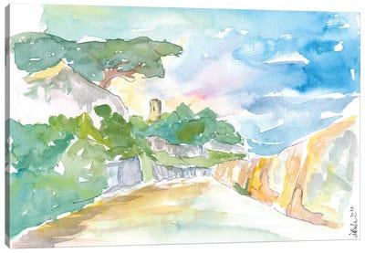 Guernsey Channel Islands Walk In The Sun Canvas Art Print