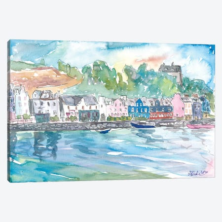Tobermory Island Of Mull Scotland Waterfront Scene Inner Hebrides Canvas Print #MMB371} by Markus & Martina Bleichner Canvas Print
