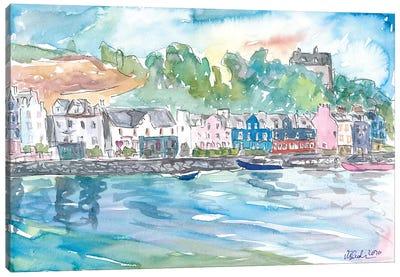 Tobermory Island Of Mull Scotland Waterfront Scene Inner Hebrides Canvas Art Print