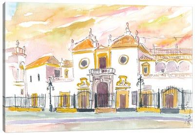 Seville Plaza De Toros Maestranza In Andalusia Spain Canvas Art Print