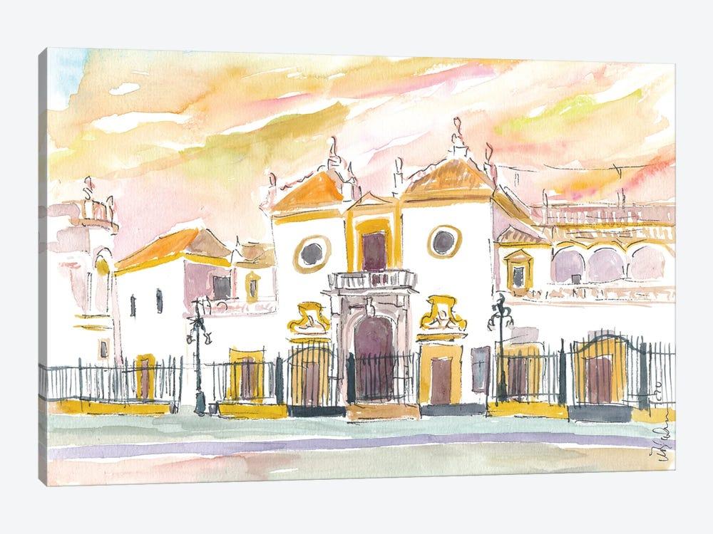Seville Plaza De Toros Maestranza In Andalusia Spain by Markus & Martina Bleichner 1-piece Canvas Wall Art