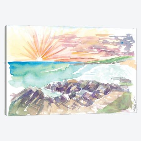 Rough Romatic Coastline Outer Hebrides Harris Scotland Canvas Print #MMB373} by Markus & Martina Bleichner Art Print