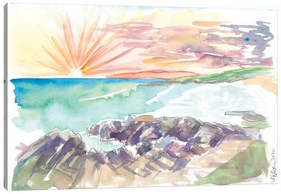 Rough Romatic Coastline Outer Hebrides Harris Scotland Canvas Art Print