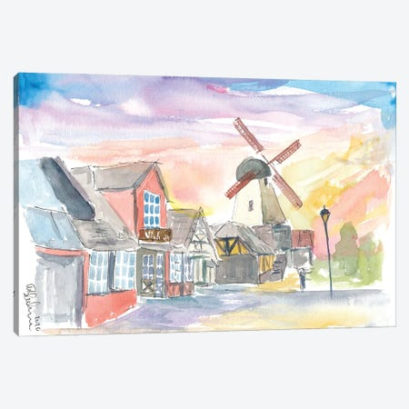 Solvang Main Street Danish Feelings In California Canvas Print #MMB374} by Markus & Martina Bleichner Canvas Artwork