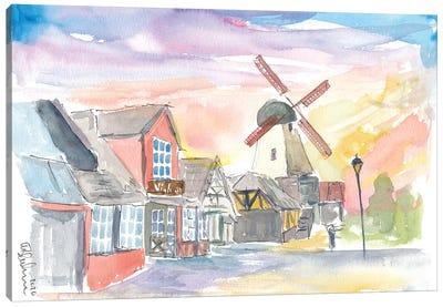 Solvang Main Street Danish Feelings In California Canvas Art Print