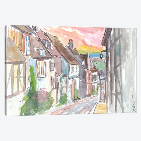 Romantic Rye Mermaid Street With East Sussex View Canvas Print #MMB377} by Markus & Martina Bleichner Canvas Wall Art
