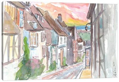 Romantic Rye Mermaid Street With East Sussex View Canvas Art Print